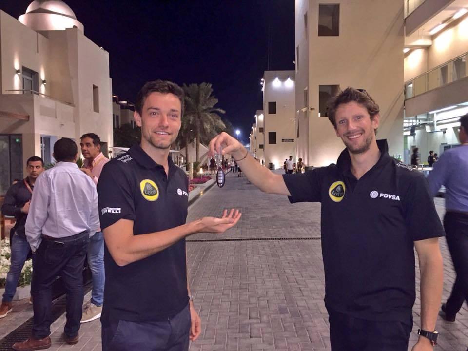 Grosjean je ključeve Lotusa (Renaulta ?) predao mladom Palmeru